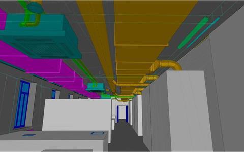 Innenansicht Labor 3D Plan